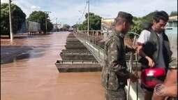 Cerca de 150 pessoas estão em abrigos após enchente em Aquidauana, MS