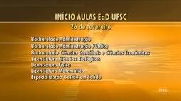 UFSC divulga datas das aulas de cursos EaD após confirmação de repasse da Capes