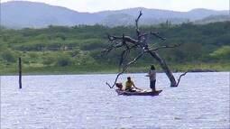 Em Parelhas, chuva melhora situação do açude Boqueirão e anima pescadores