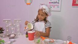 Sucesso da internet, a cozinheira mirim Marina Pretti no É Bem Mato Grosso - Bloco 02