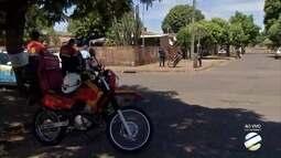 Mulher fica ferida após acidente na Vila Nhá-Nhá