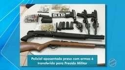 PM preso por ter grande quantidade de armas é ouvido no fórum de Ponta Porã