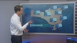 Veja como ficará o tempo em todas as regiões de SC nesta terça-feira (20)