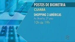 Veja quais os postos de cadastramento biométrico em Cuiabá e Várzea Grande
