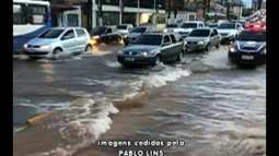 Grande vazamento de água é registrado na Almirante Barros em Belém