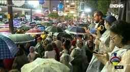 Manifestantes protestam contra reforma da previdência para servidores em SP
