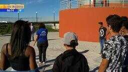 Estudantes visitam o Planetário da Unipampa, em Bagé