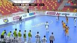 Em jogo de 12 gols, Sorocaba e Minas empatam pela Liga Nacional de Futsal