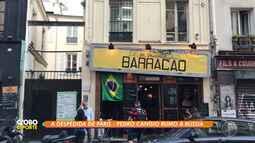Pedrovisky na Copa: Pedro Canísio visita restaurante baiano em Paris