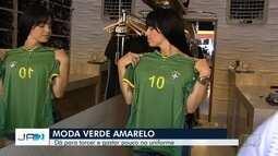 Goianienses buscam roupas verdes e amarelas para torcer para a seleção na Copa do Mundo
