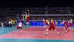 Melhores momentos: Brasil 3 x 1 Polônia pela Liga da Nações de vôlei masculino