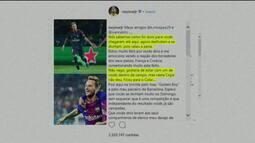 Neymar posta apoio a amigos que estão na final da Copa