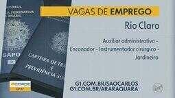 Rio Claro e Brotas oferecem vagas de emprego em várias áreas