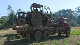 Operação do Ibama apreende máquinas e madeira ilegal e detecta envolvimento de índios