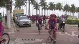 Mais de 60 ciclistas saíram de Santos com destino a Iguape