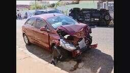 Acidente de trânsito deixa quatro pessoas feridas em Uberlândia