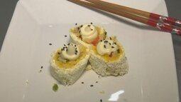 Parte 3: Aprenda a preparar um sushi de pirarucu e farinha de mandioca