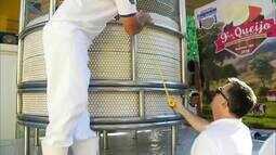 Ipanema produz maior queijo minas do Brasil