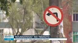 Motoristas são flagrados cometendo 'roubadinhas' nas ruas de Salvador