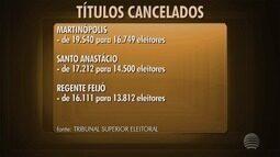 Justiça Eleitoral cancela quase 20 mil títulos no Oeste Paulista