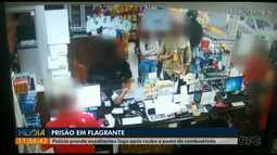 Dois homens são presos depois de assaltarem posto de combustíveis em Carambeí