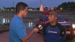 Homem desaparece nas águas do Rio Acre e Corpo de Bombeiros faz buscas na capital