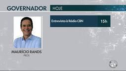 Confira as agendas do candidatos ao governo de Pernambuco