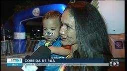 Bebê de 1 ano participa de corrida infantil em Palmas