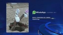 Moradores de Itapetininga reclamam de buraco causado pela queda de tampa de bueiro em rua