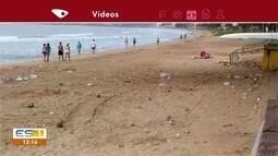 População deixa Praia Grande suja, em Fundão