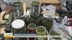 Quatro homens foram presos em Campinas por suspeita de tráfico de drogas