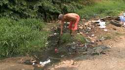 Moradores decidem limpar sozinhos galerias do Sacavém, em São Luís