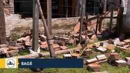 Tempo: ventania causa estragos em Bagé