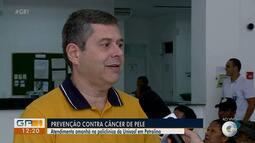 Mutirão da Univasf realiza atendimentos de prevenção contra o câncer de pele, em Petrolina