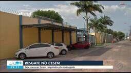 Sete internos são resgatados do Centro Socioeducativo de Belém