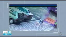 Câmeras de segurança registram assalto em uma das principais avenidas de Belém