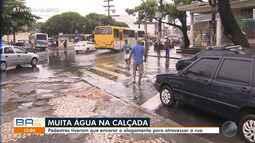 Chuva deixa ruas alagadas, trânsito complicado e causa estragos em Salvador