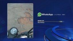 Confira as reclamações enviadas pelos telespectadores no WhatsApp da TV TEM
