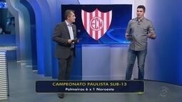 Palmeiras vence o Noroeste e se classifica para a final do Campeonato Paulista sub-13