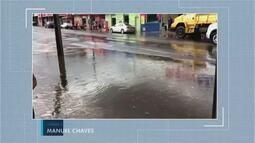 Forte chuva é registrada em Uberaba