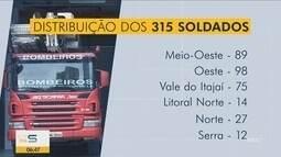 Corpo de Bombeiros forma 315 novos soldados em Santa Catarina