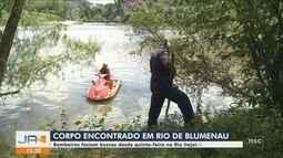 Corpo de homem desaparecido há dois dias é encontrado rio Itajaí-Açu