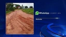 Moradores enviam reclamações de bairros pelo WhatsApp da TV TEM de Rio Preto
