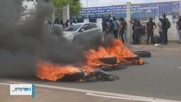 Agentes penitenciários e policiais civis de RR fazem protesto por salários atrasados