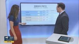 Confira a previsão do tempo para o final de semana na região de Ribeirão Preto