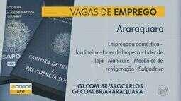 Araraquara e Porto Ferreira oferecem vagas de emprego em várias áreas