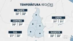 Confira a previsão do tempo para as principais regiões do Tocantins