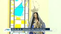 Procissão, missa e show pirotécnico marcam o encerramento da festa da Conceição