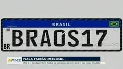Amazonas adota placa de trânsito do Mercosul a partir desta segunda-feira (10)