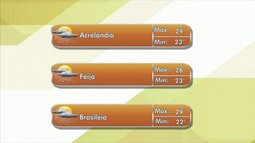 Tempo segue nublado em todo o Acre nesta terça-feira (11)